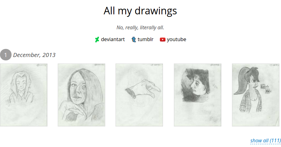 All my drawings.