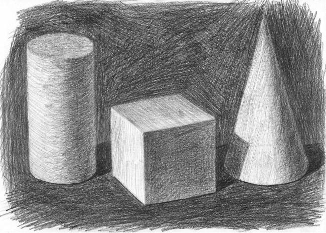 отличие графические картинки натюрморта из геометрических тел финика