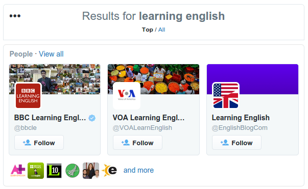 Learning English twitter